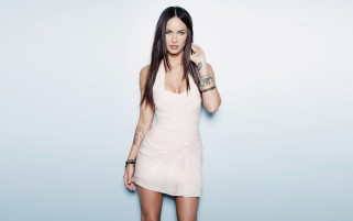 Megan Fox In White Dress wallpapers and stock photos