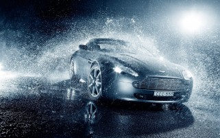 Aston Martin V8 Rain wallpapers and stock photos