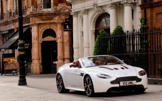 Aston Martin Vantage V12 On Th wallpapers and stock photos
