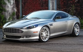 Silver Aston Martin DB9 wallpapers and stock photos
