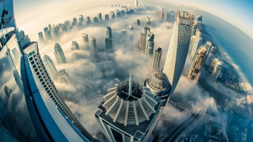 Dubai Above the Clouds wallpapers and stock photos
