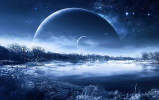 Lake Stars Planets Scenic Snow wallpapers and stock photos