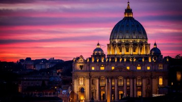 Vatican at Night wallpapers and stock photos