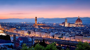 Firenze at Sunset wallpapers and stock photos