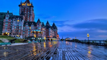 Chateau Frontenac Quebec wallpapers and stock photos