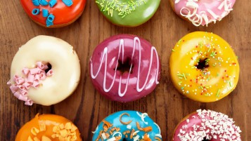 Glazed Donuts wallpapers and stock photos