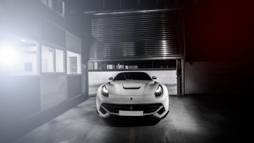 White Ferrari F12 Berlinetta wallpapers and stock photos