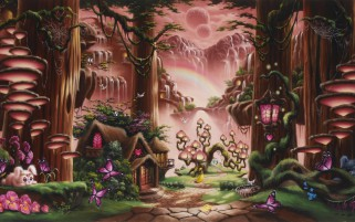 Cute Fairytale Cartoon Art wallpapers and stock photos