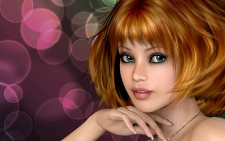 Girl Brown Hair Glance Mood wallpapers and stock photos