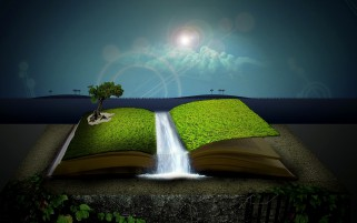 Surreal Magic Book wallpapers and stock photos