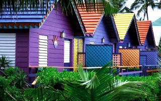 Colorful Houses wallpapers and stock photos