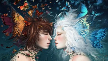 Fairy Romance wallpapers and stock photos