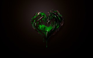 Green Heart Abstract wallpapers and stock photos