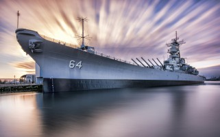 Uss Wisconsin Bb-64 Iowa-Class wallpapers and stock photos