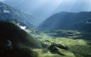 Tibet Fields wallpapers and stock photos