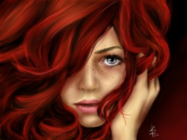 Woman Red Head Looking wallpapers and stock photos