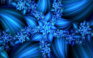 Blue Fractal Blossom wallpapers and stock photos