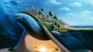 Random: Surreal Whale Amazing Fantasy
