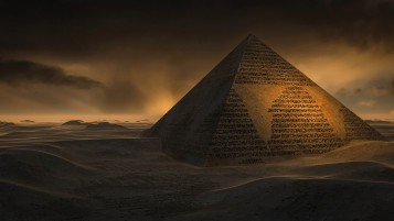 Pyramid Desert Dusky wallpapers and stock photos