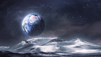 Nice Earth Planet Stars Night wallpapers and stock photos