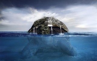 Turtle Island Ocean Fantasy wallpapers and stock photos