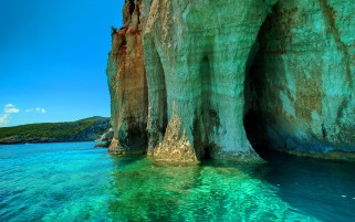 Grotto Beautiful Sea wallpapers and stock photos