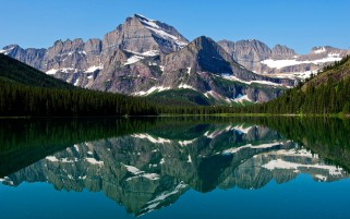 Mountain Lake Reflections Fore wallpapers and stock photos