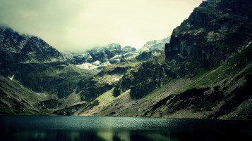 Dark Green Lake wallpapers and stock photos