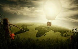 Hot Air Balloon Light Bulb wallpapers and stock photos