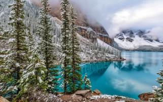 Canada Lake Moraine Lake Banff wallpapers and stock photos