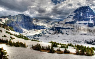 Canada Park Winter Mountains B wallpapers and stock photos