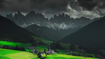 Funes Santa Maddalena Italy wallpapers and stock photos