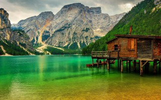 Lake In Lake Sudtirol Italy wallpapers and stock photos
