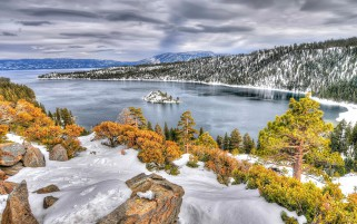 Usa Island In Lake Tahoe Calif wallpapers and stock photos