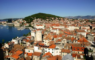 Croatia Red Roofs wallpapers and stock photos