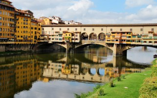 Italy Bridges Toscana Firenze wallpapers and stock photos