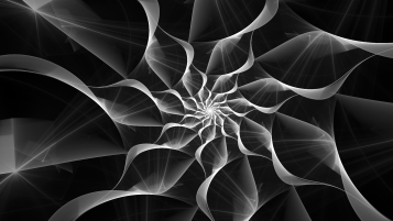 Fractal Floral White & Black wallpapers and stock photos