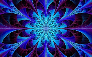 Blue Kaleidoscope Fractal wallpapers and stock photos