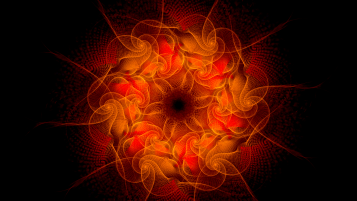 Fractal Circle & Star Orange wallpapers and stock photos
