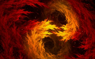 Hot Red Fire Fractal wallpapers and stock photos