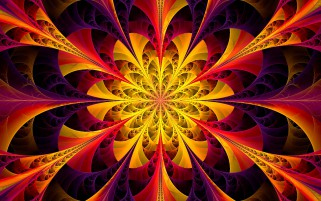 Yellow Kaleidoscope Fractal wallpapers and stock photos