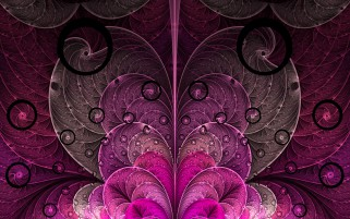 Pink & Purple Hearts Fractal wallpapers and stock photos