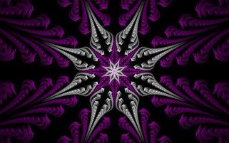 Fractal Star Purple & Silver wallpapers and stock photos
