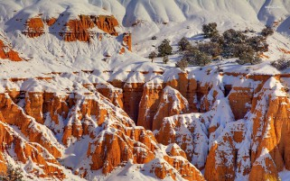 Gorgeous Snowy Canyons wallpapers and stock photos