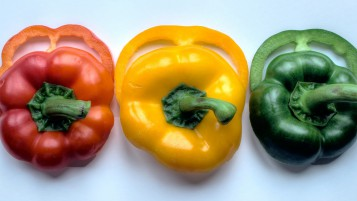Tri Color Peppers wallpapers and stock photos