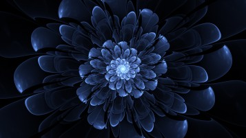 Big Blue Blossom Fractal wallpapers and stock photos