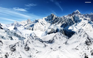 Pretty Snow Mountains wallpapers and stock photos