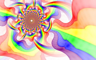 Psychedelic Fractal Rainbow wallpapers and stock photos
