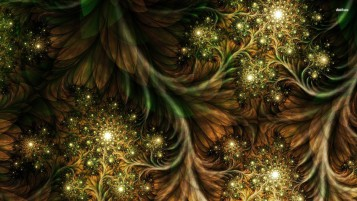 Sparkly Fractal Green Brown wallpapers and stock photos
