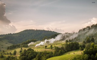 Next: Trees Hay Bales Smoke Hills